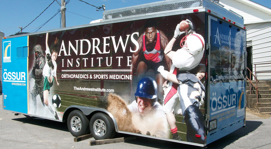 Andrew's Institute Trailer Wrap