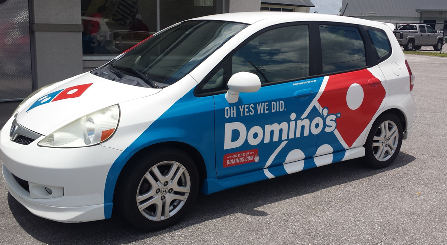 Vehicle Wrap for Dominos Pizza