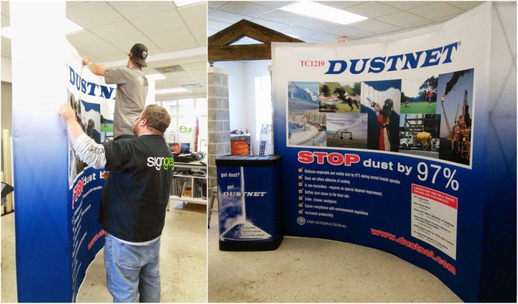 DustNet Trade Show Exhibit Display