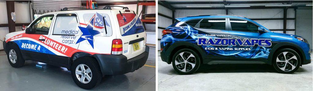 Custom car wraps by Pensacola Sign
