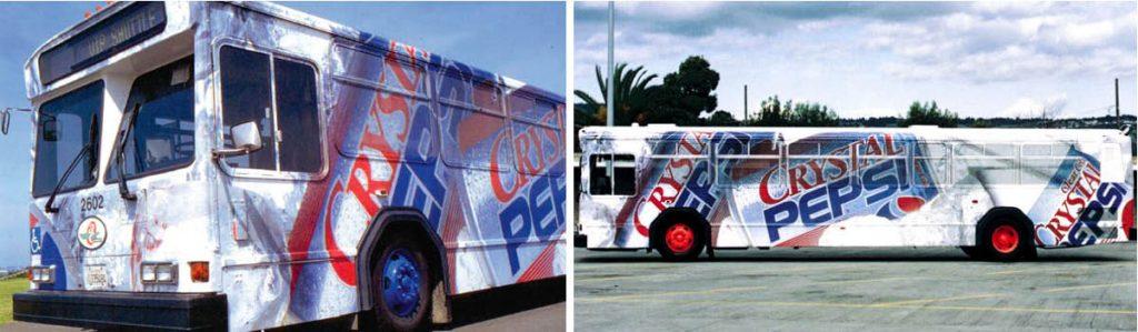 Pepsi bus wrap