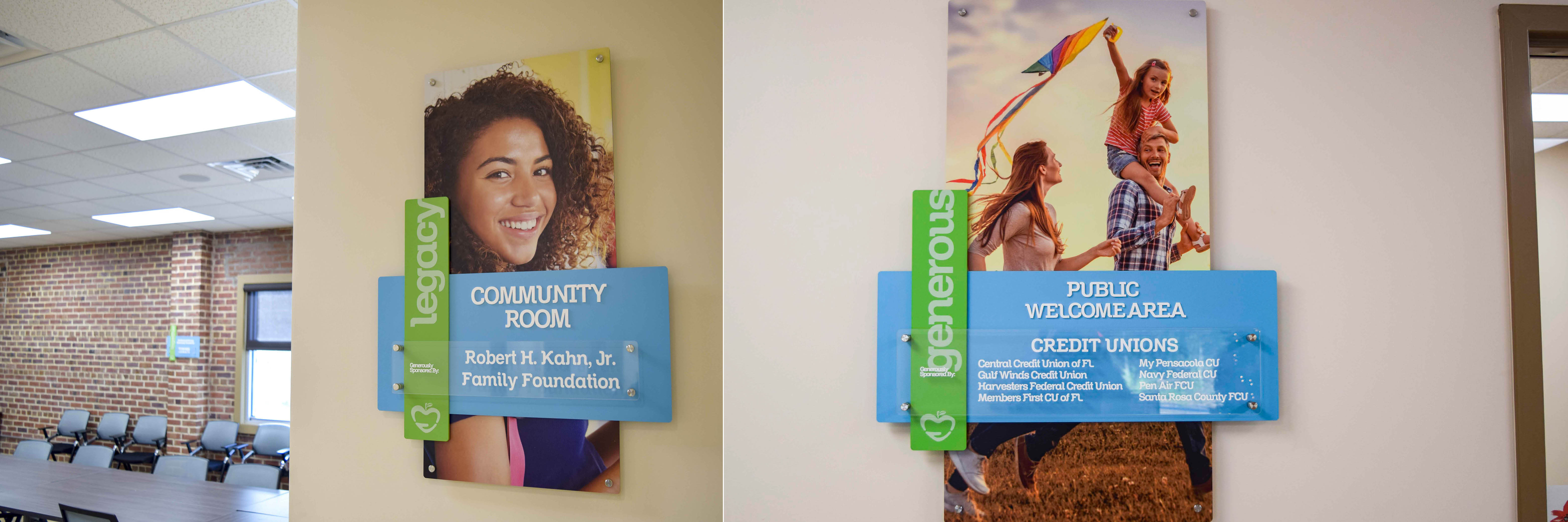"""<alt=""""Welcome area signage at Manna Food Pantry"""">"""