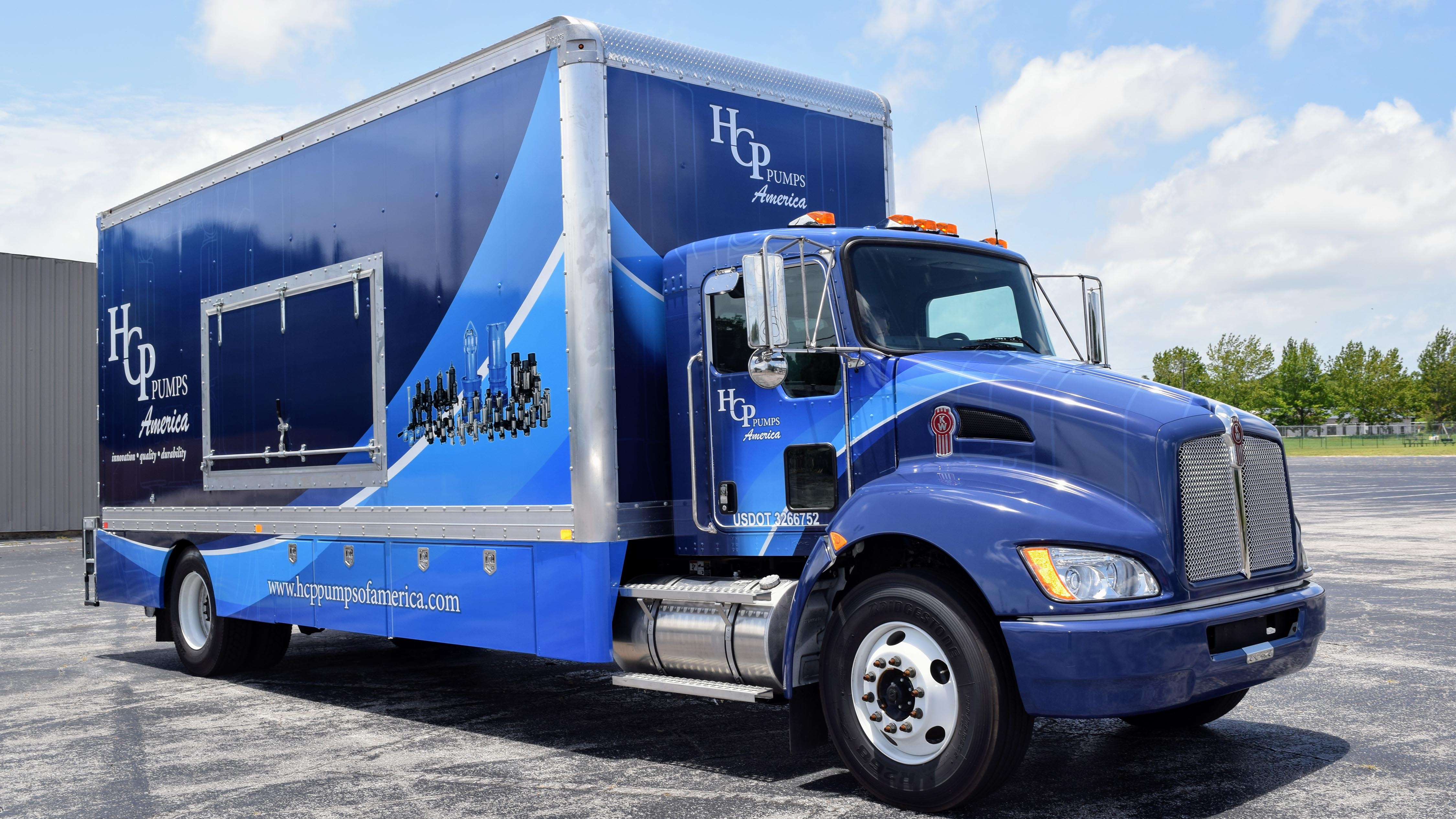 Box truck wrap for HCP Pumps - Pensacola Sign Vehicle Wraps