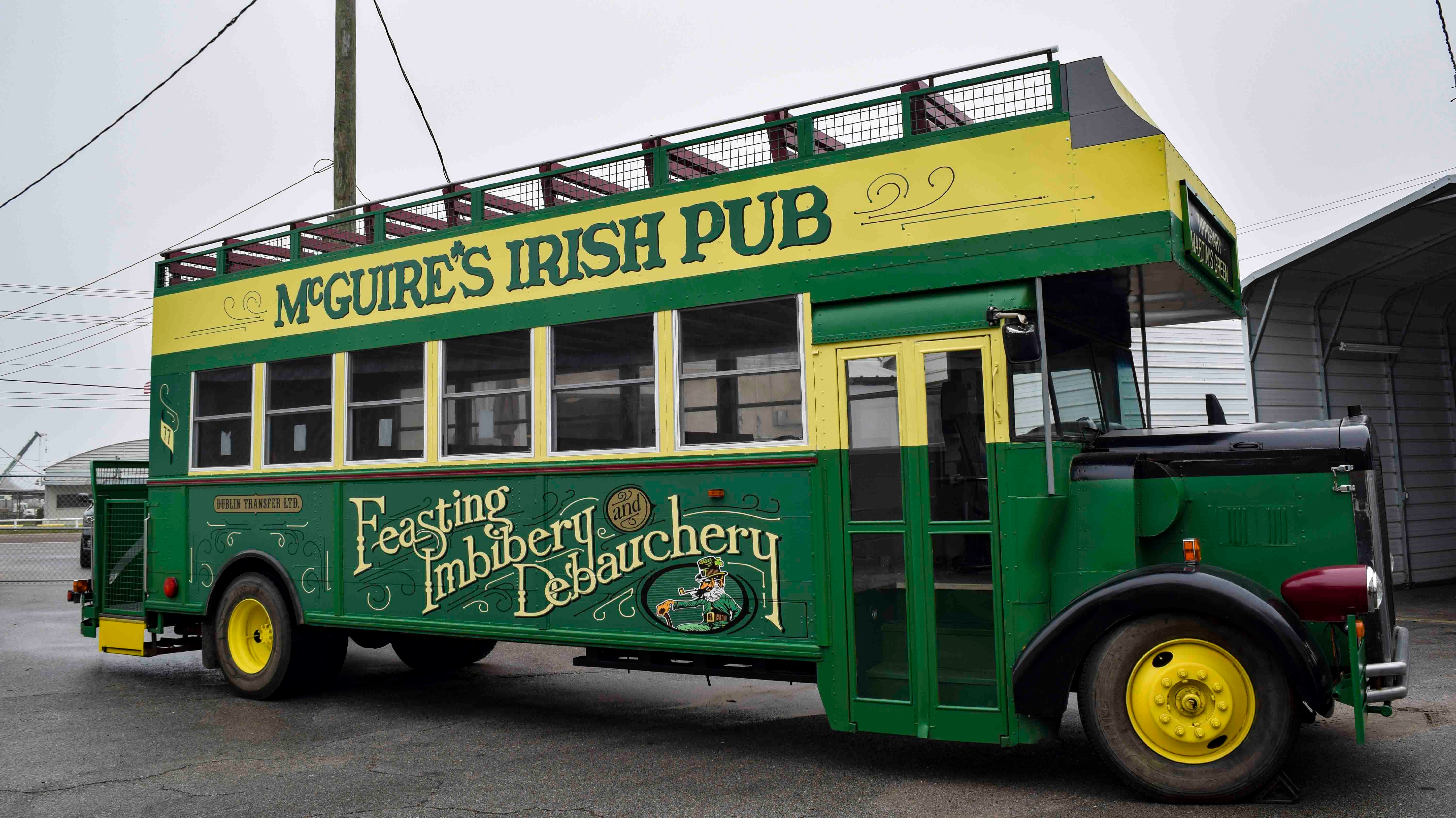 Bus wrap for McGuire's Irish Pub - Pensacola Sign Vehicle Wraps