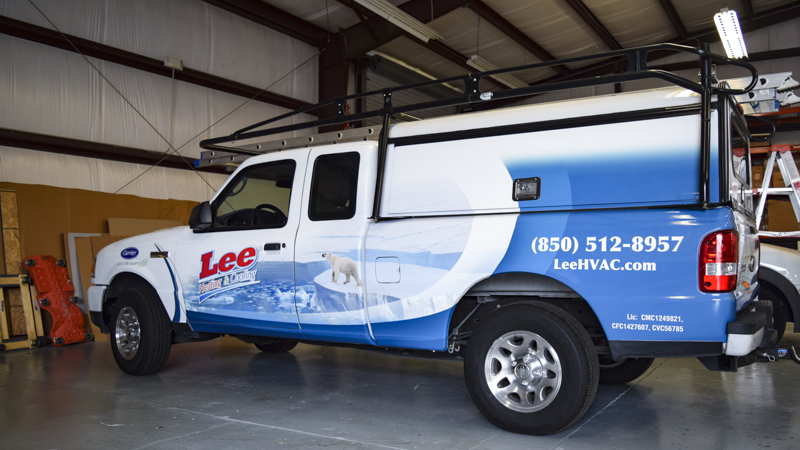 Pensacola Sign - Fleet Wrap for Lee Heating and Cooling