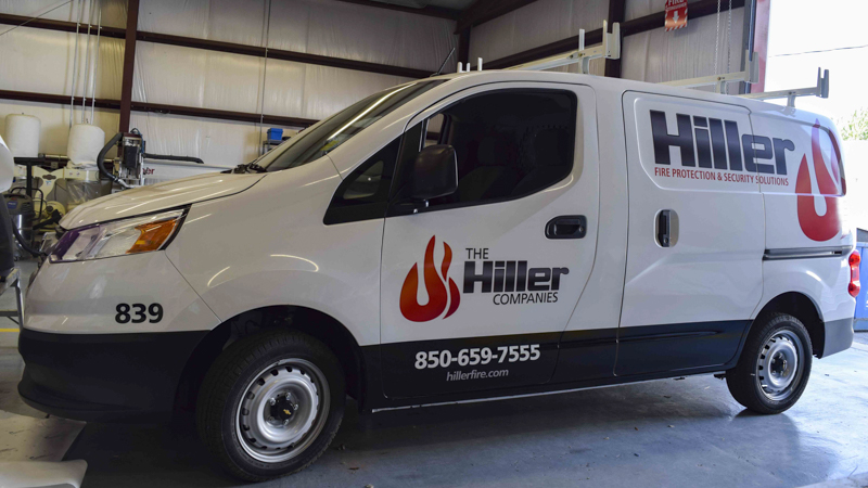 Pensacola Sign - Fleet Wrap for Hiller Company