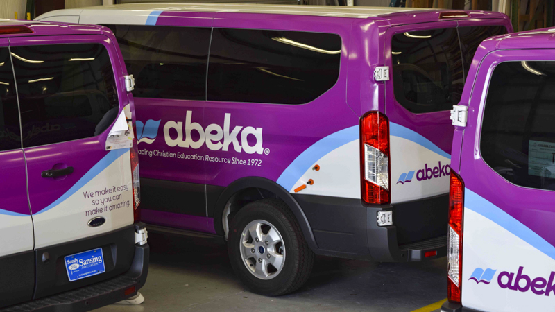Pensacola Sign - Fleet Wrap for Abeka Books