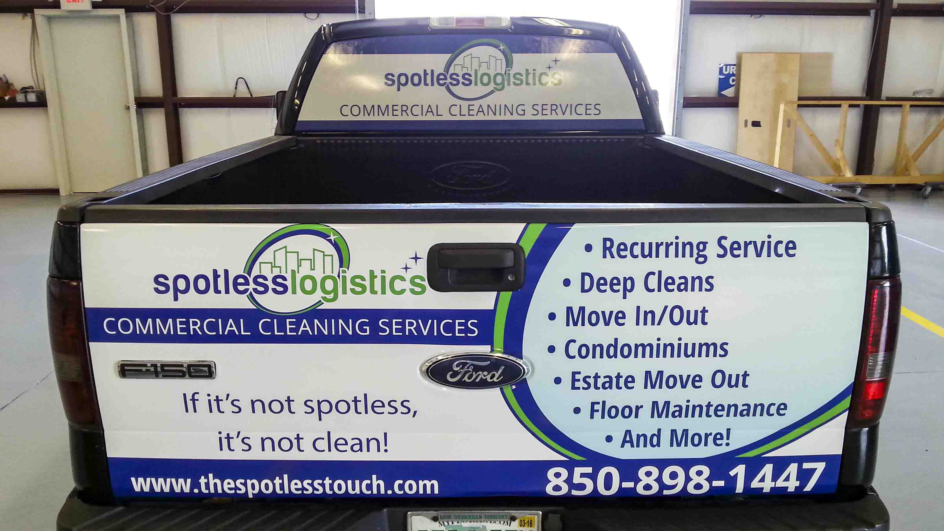 Pensacola Sign - Vehicle Graphics - Graphics for Spotless Logistics