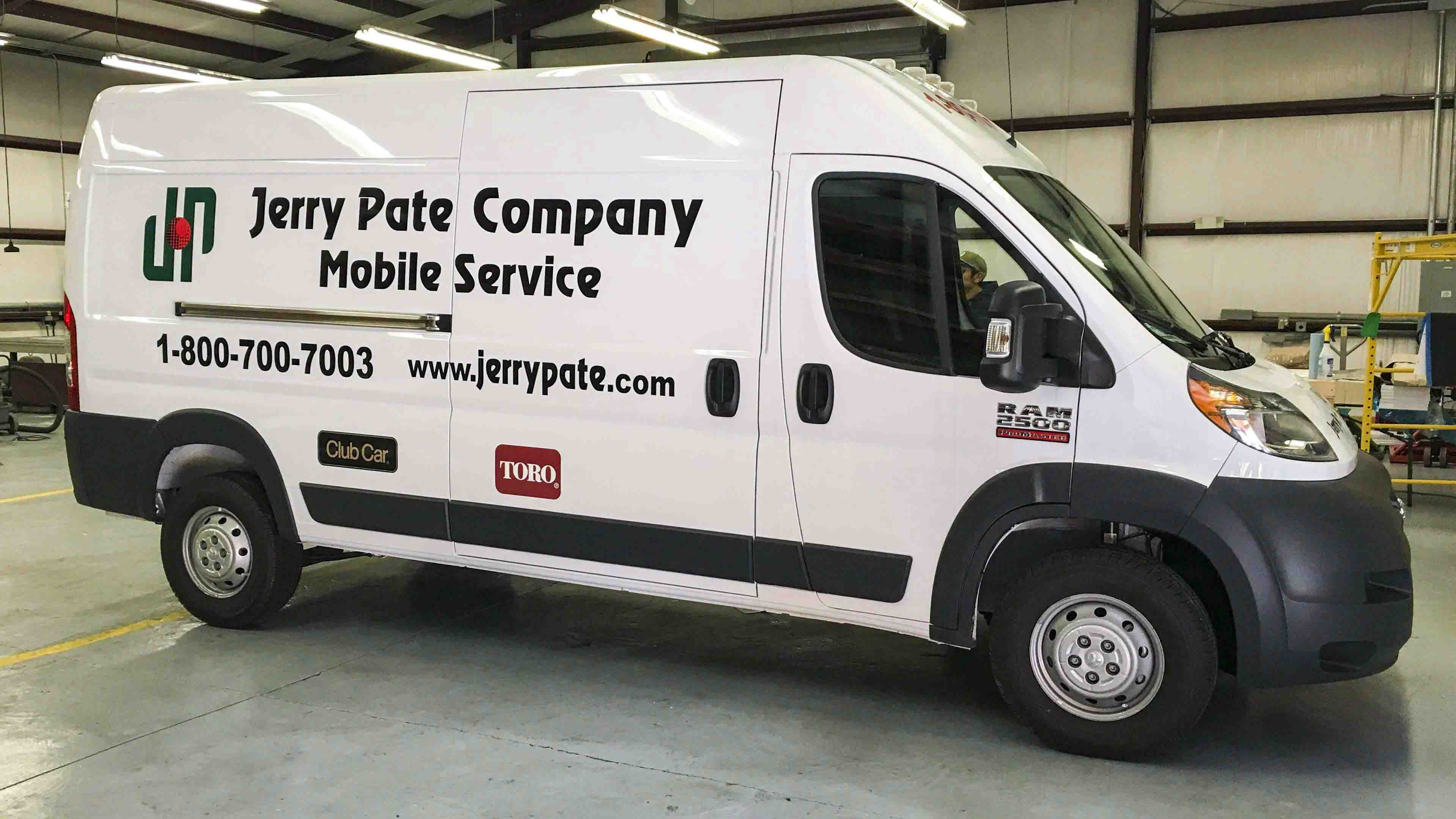 Pensacola Sign - Vehicle Graphics - Graphics for Jerry Pate Company