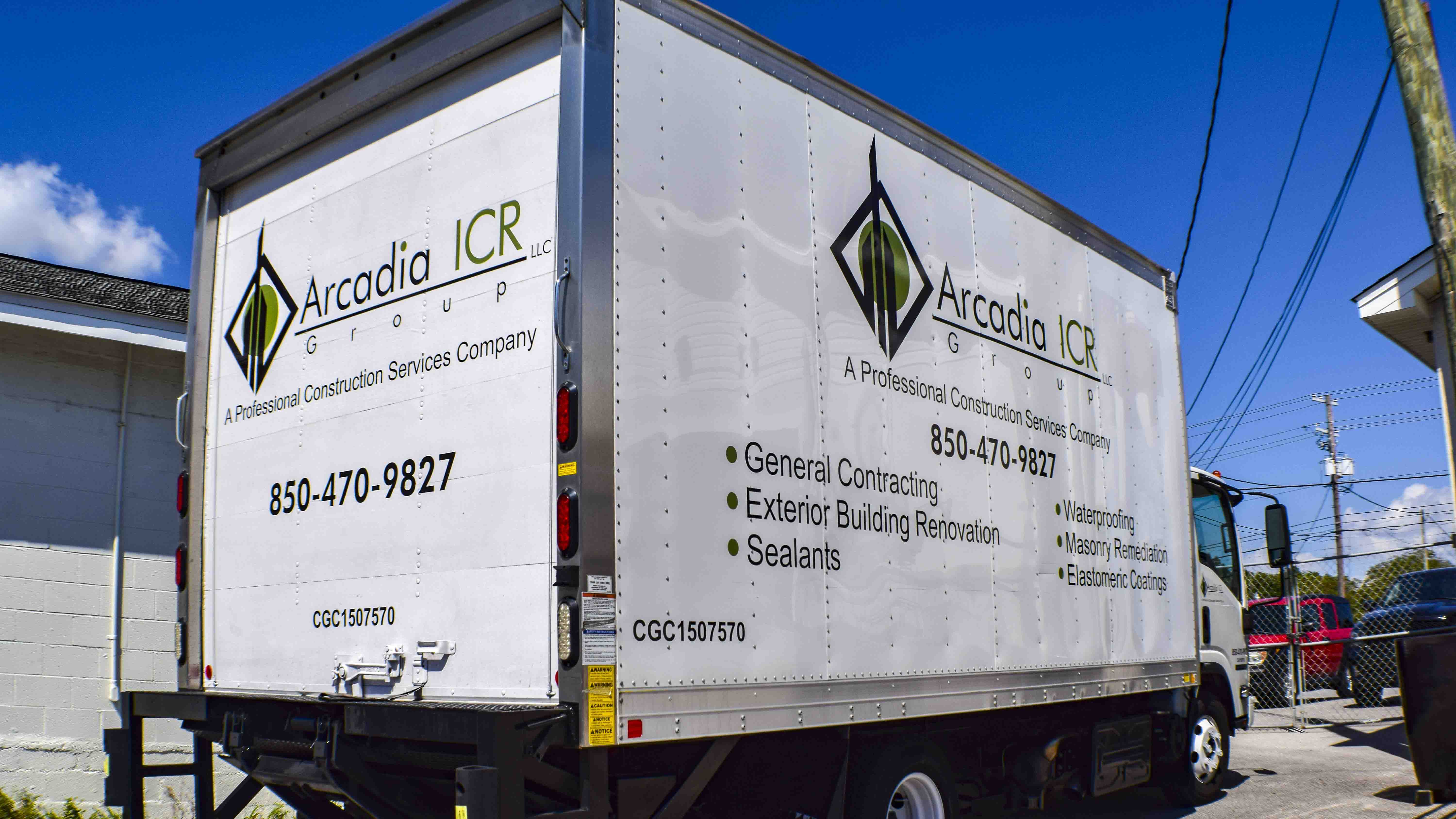 Pensacola Sign - Vehicle Graphics - Graphics for Arcadia ICR