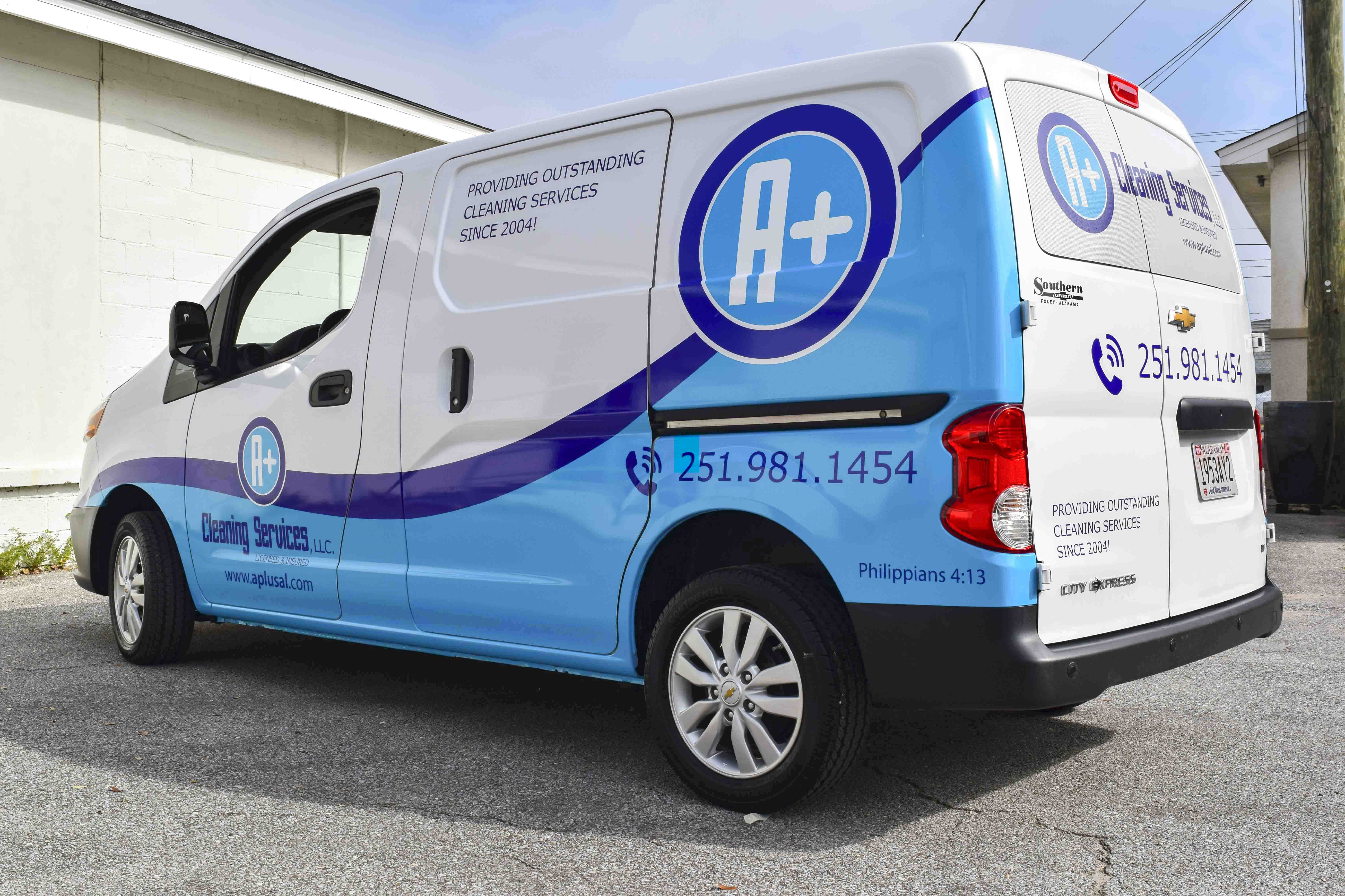 Pensacola Sign - Vehicle Graphics - Graphics for A+ Cleaning