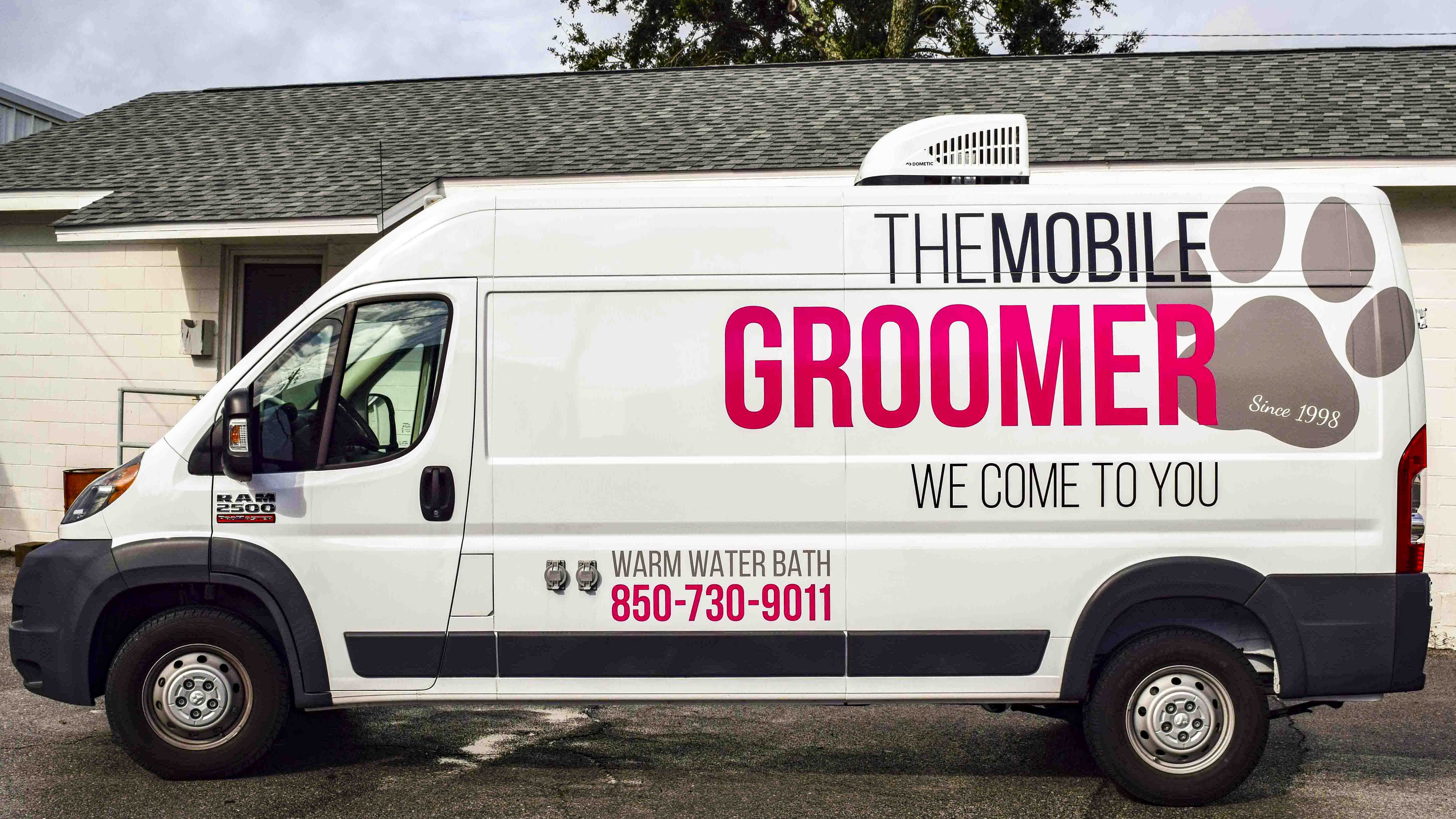 Pensacola Sign - Vehicle Graphics - Graphics for The Mobile Groomer