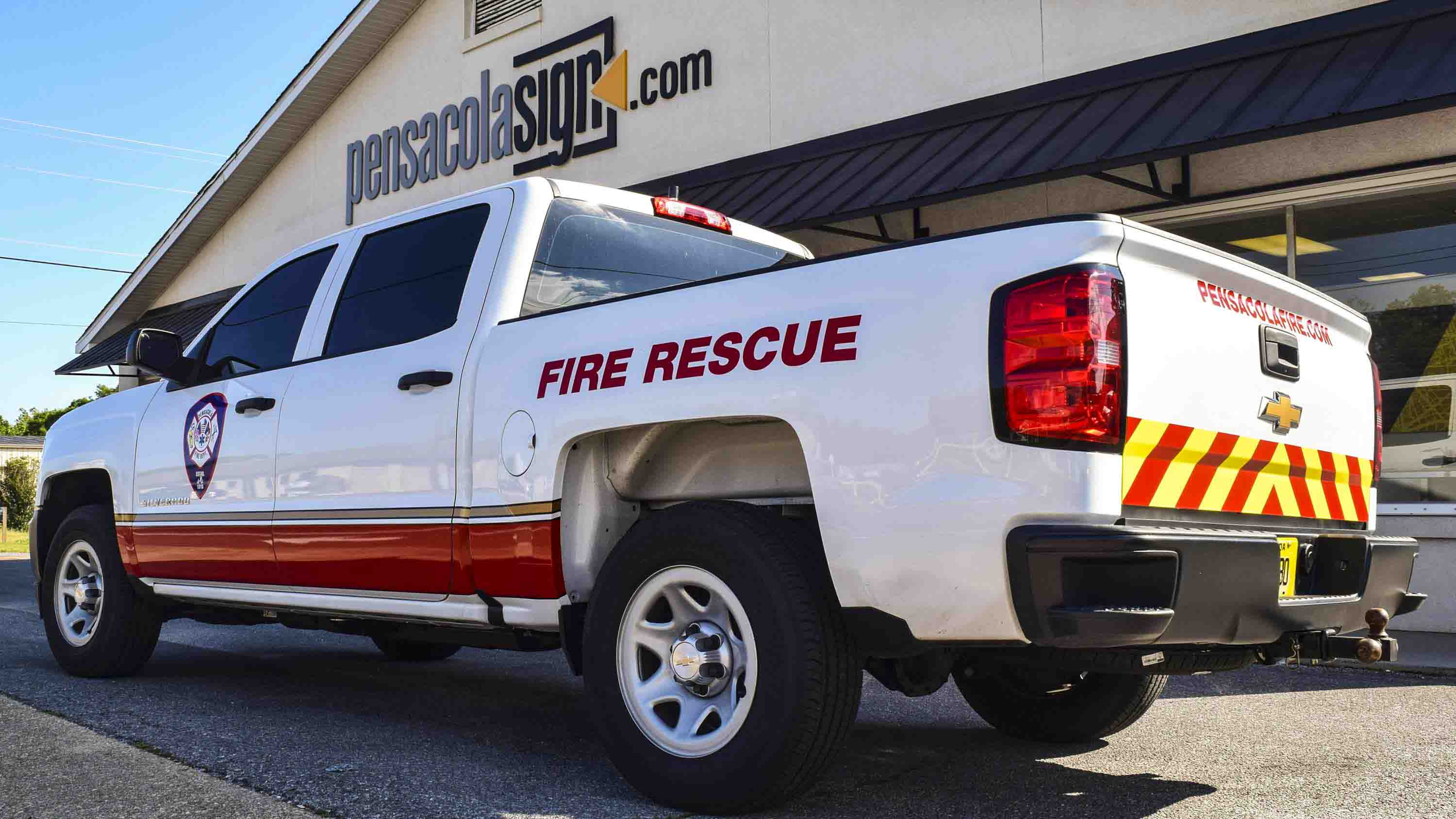 Pensacola Sign - Vehicle Graphics - Graphics for Pensacola Fire Department