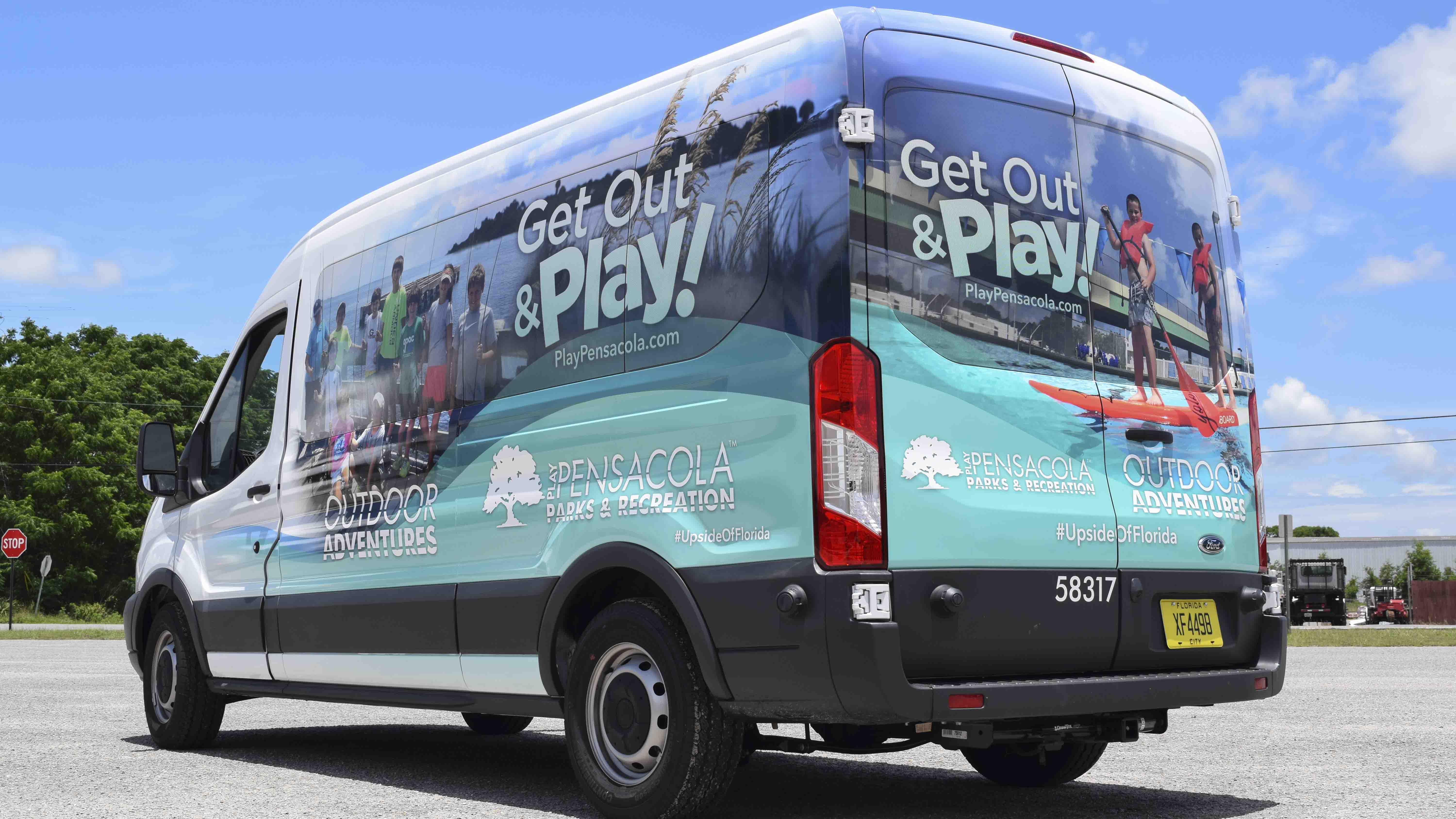 Pensacola Sign - Vehicle Graphics - Wrap for Pensacola Parks & Recreation