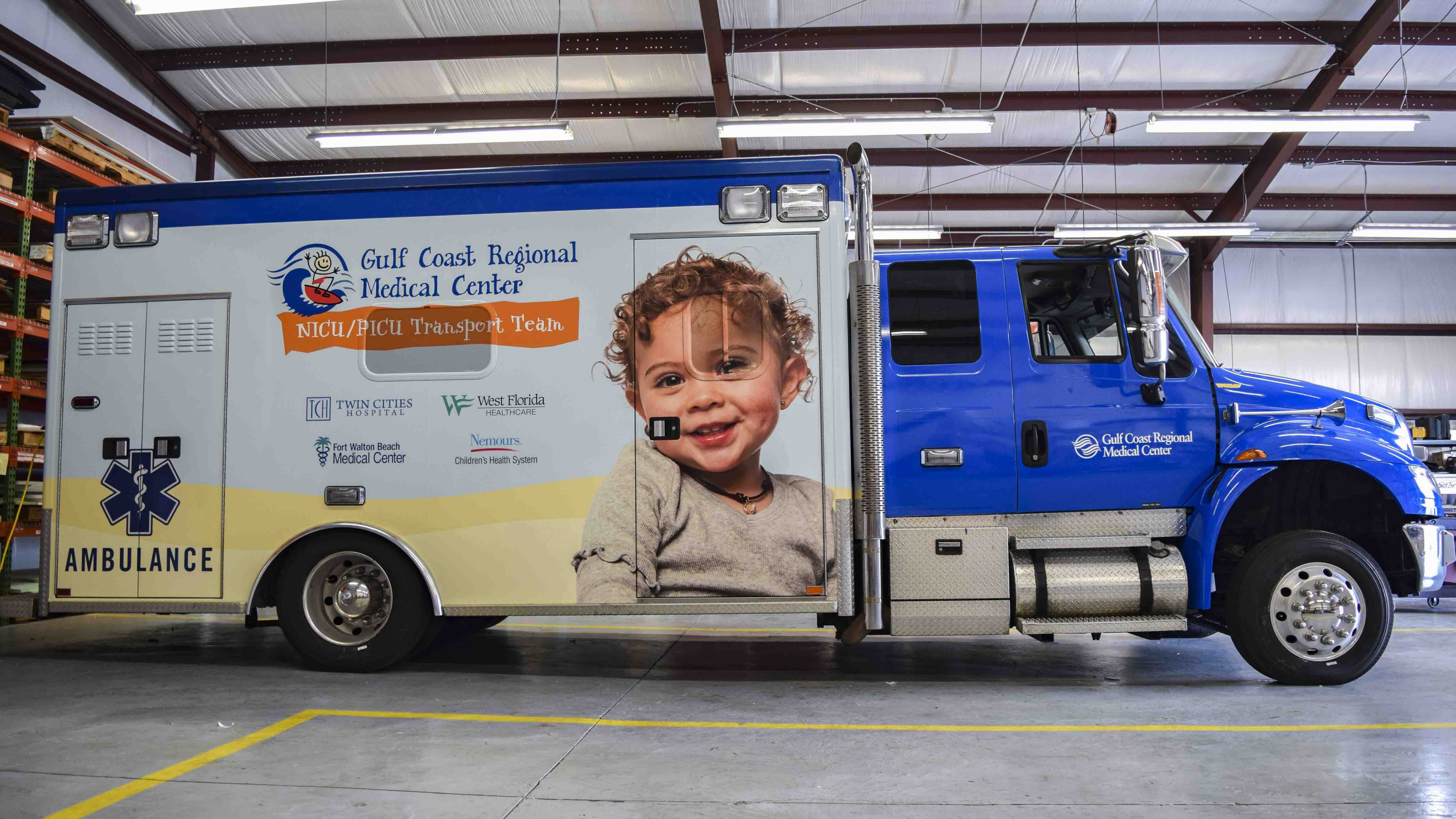 Pensacola Sign - Vehicle Wrap for Gulf Coast Regional Medical Center