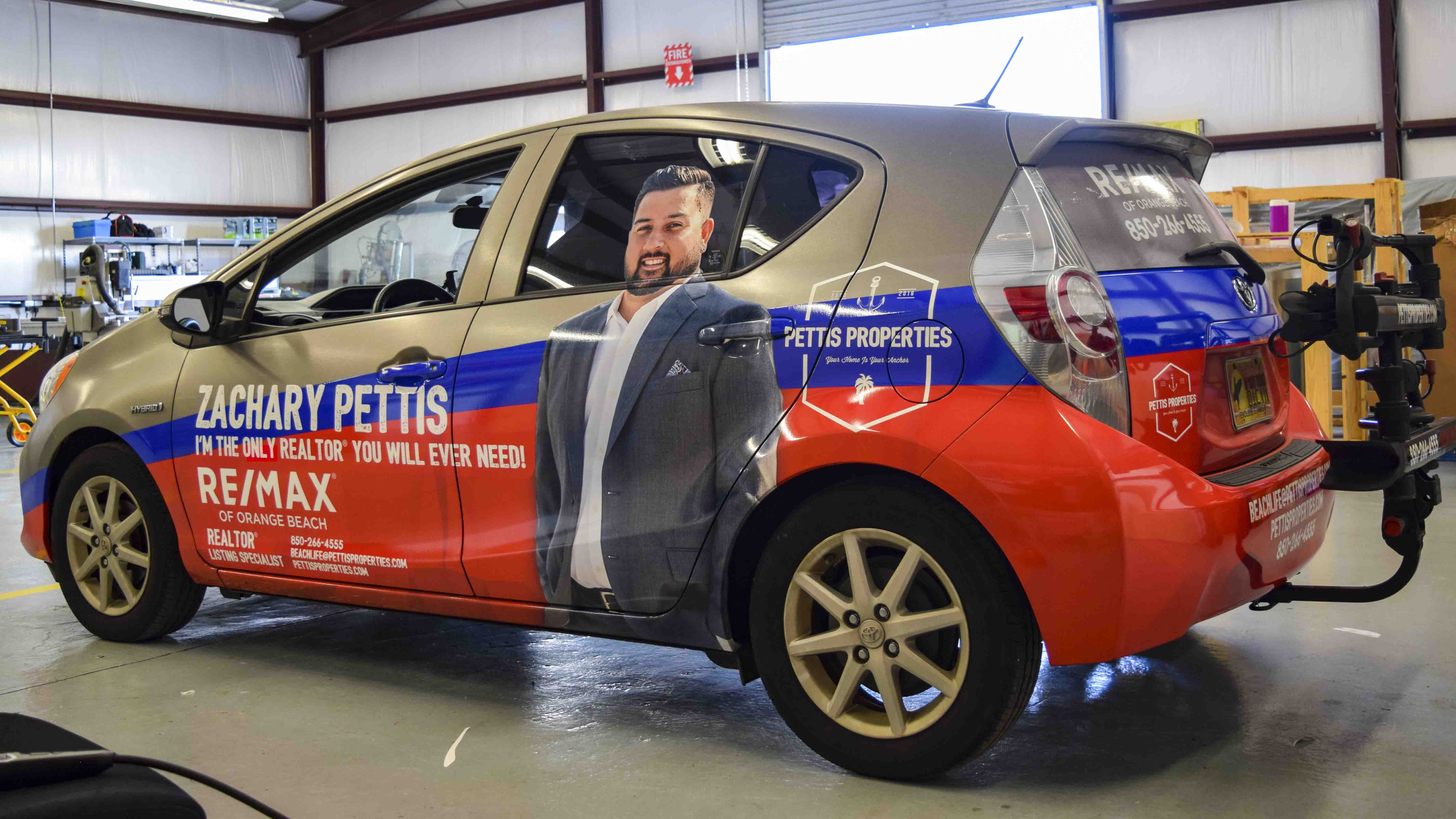 Pensacola Sign - Vehicle Wrap for Zachary Pettis
