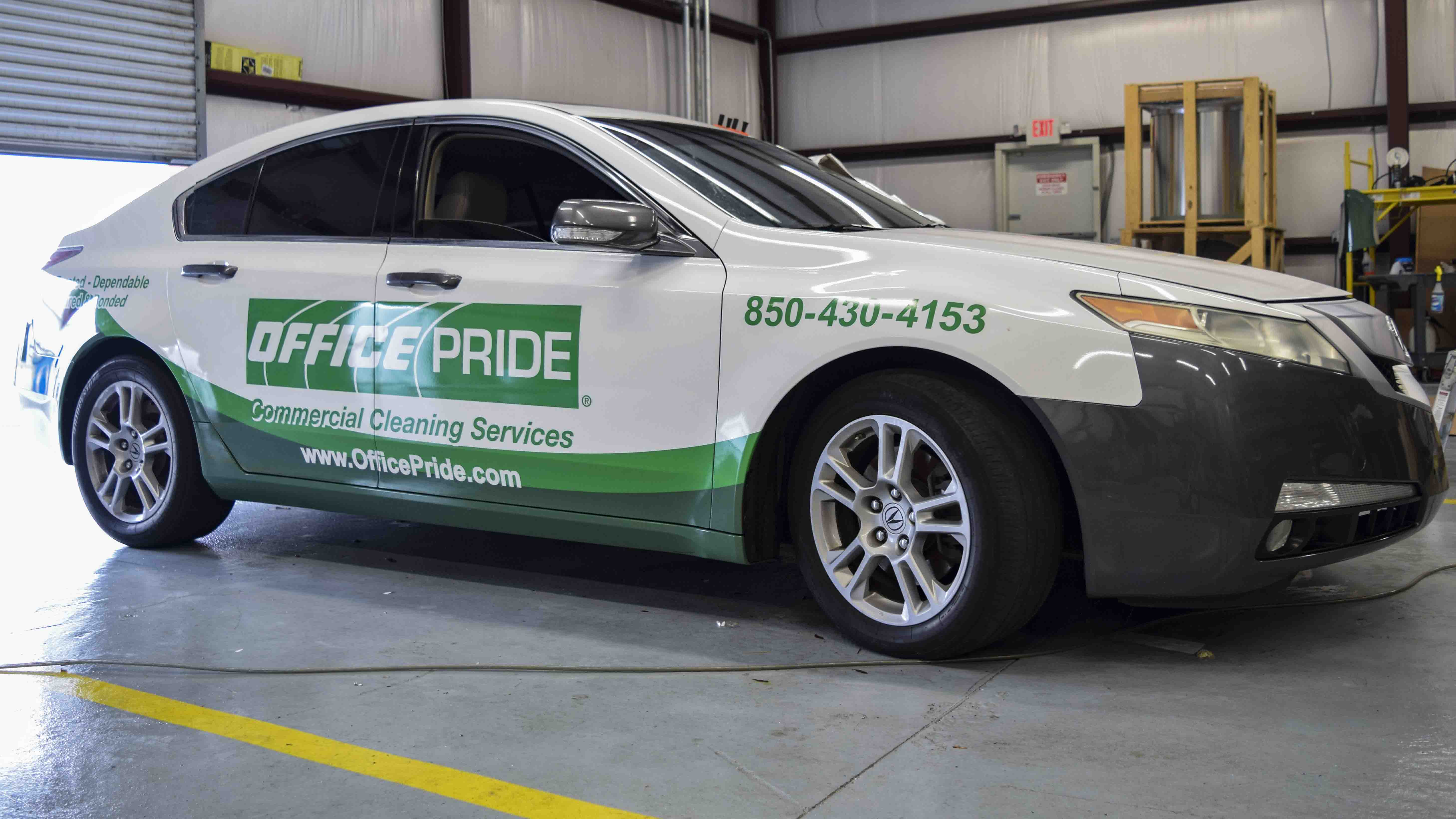 Pensacola Sign - Vehicle Wrap for Office Pride