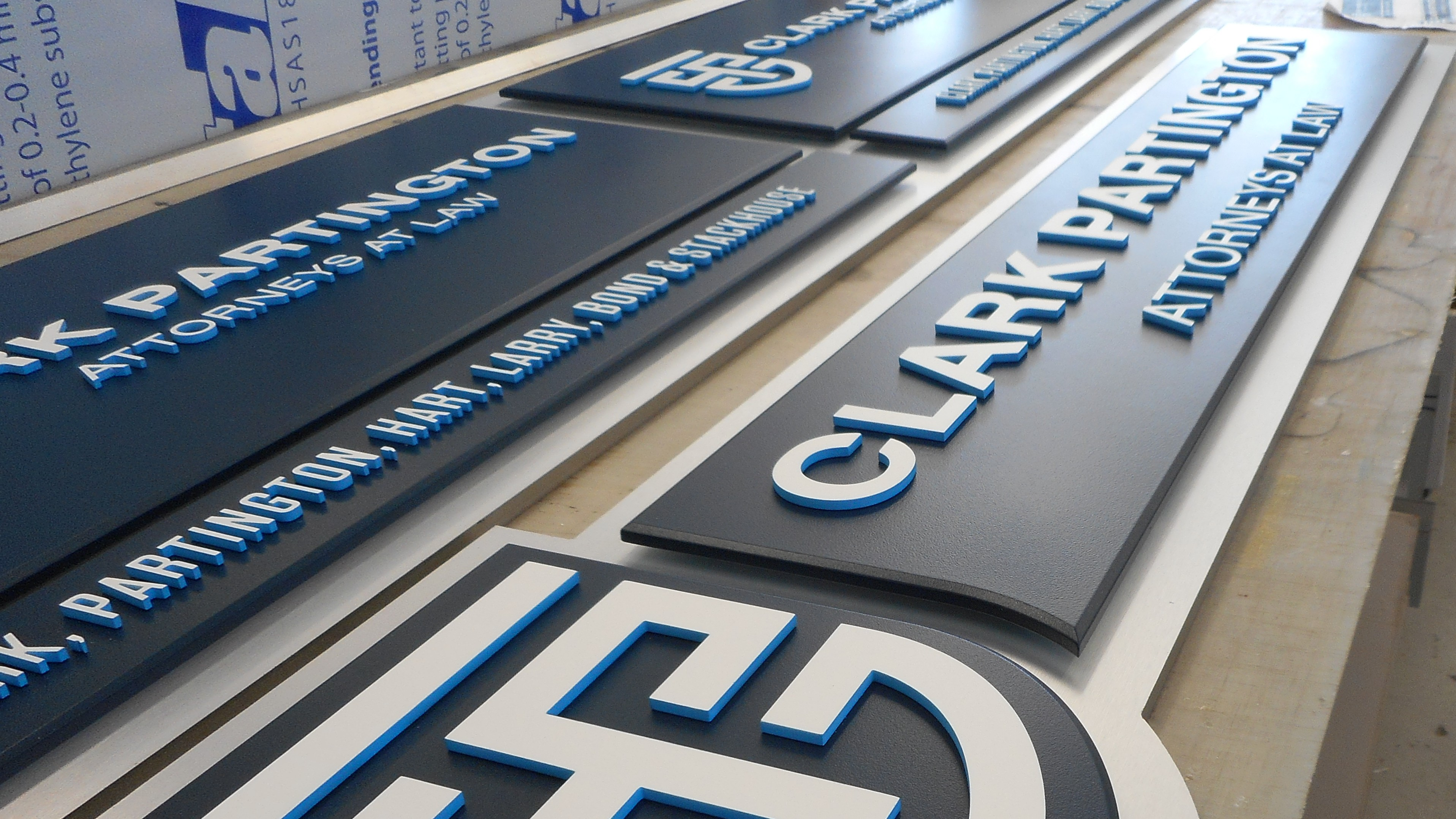 Clark Partington architectural signs by Pensacola Sign