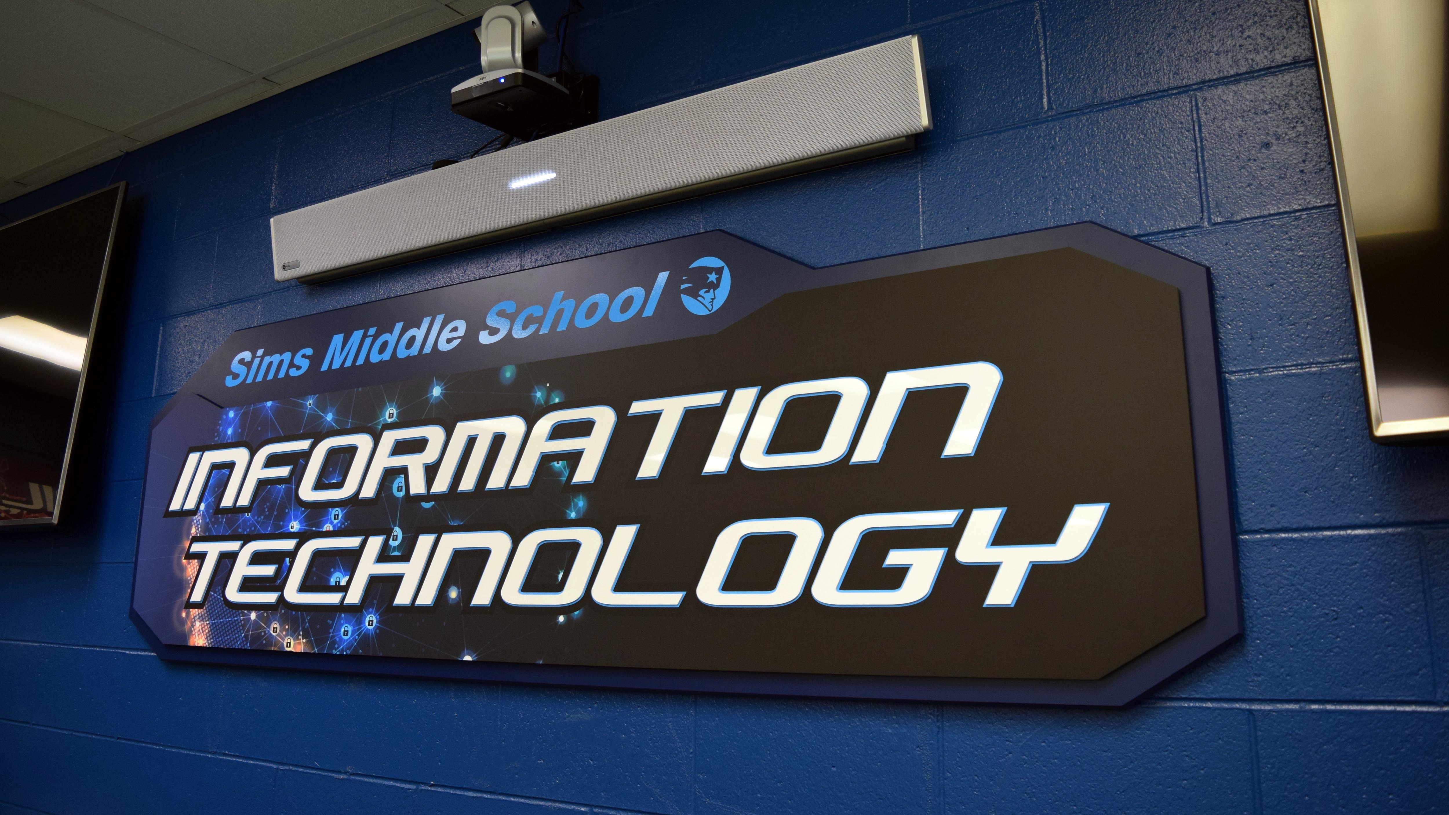 Architectural signage for IT classroom by Pensacola Sign