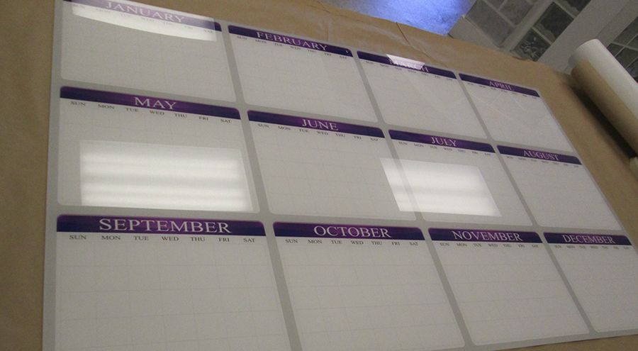 Unique Calendar White Board Custom Fixtures by Pensacola Sign