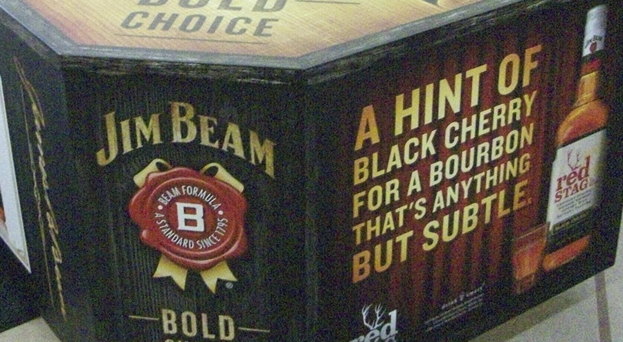 Jim Beam Point-of-purchase displays by Pensacola Sign
