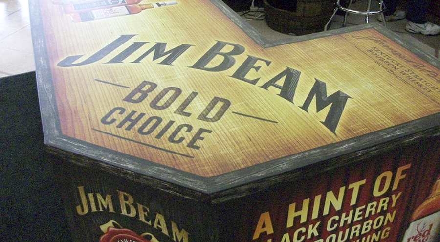 Jim Beam store display by Pensacola Sign