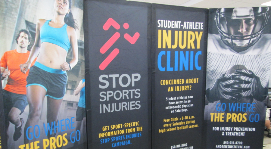 Athletic Inspired Andrews Institute Display Systems by Pensacola Sign