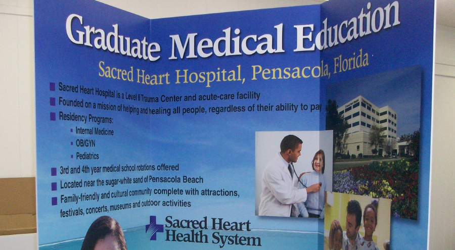 Sacred Heart Health Care Trade Show Booth by Pensacola Sign