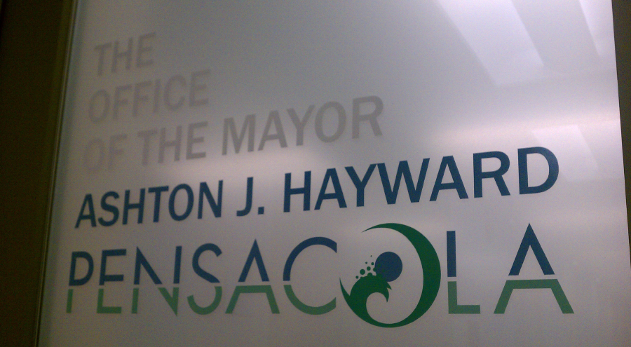 Decal and Vinyl Lettering for city mayor Ashton Hayward by Pensacola Sign