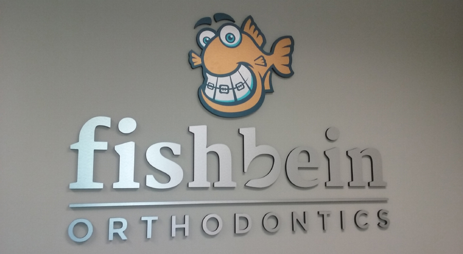 Fishbein Orthodontics dimensional lettering.