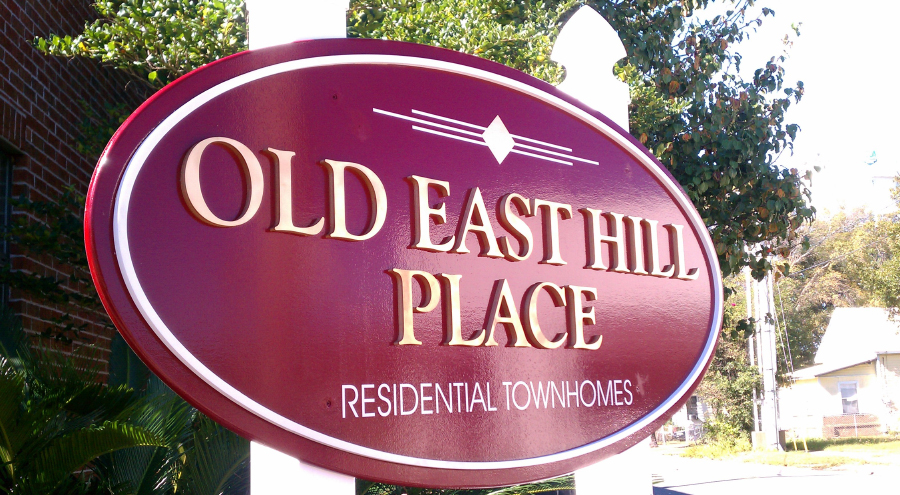 Old East Hill Place Historic Residential Townhome Dimensional Lettering Sign by Pensacola Sign