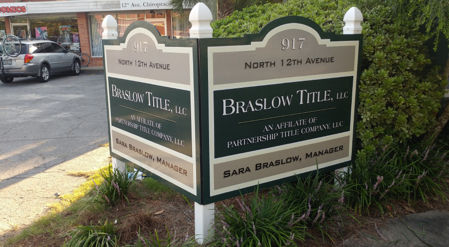 Braslow Title Corporate Identity Signage by Pensacola Sign