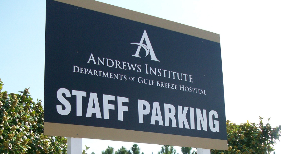 Andrews Institute Informational, Safety and Utility Signs by Pensacola Sign