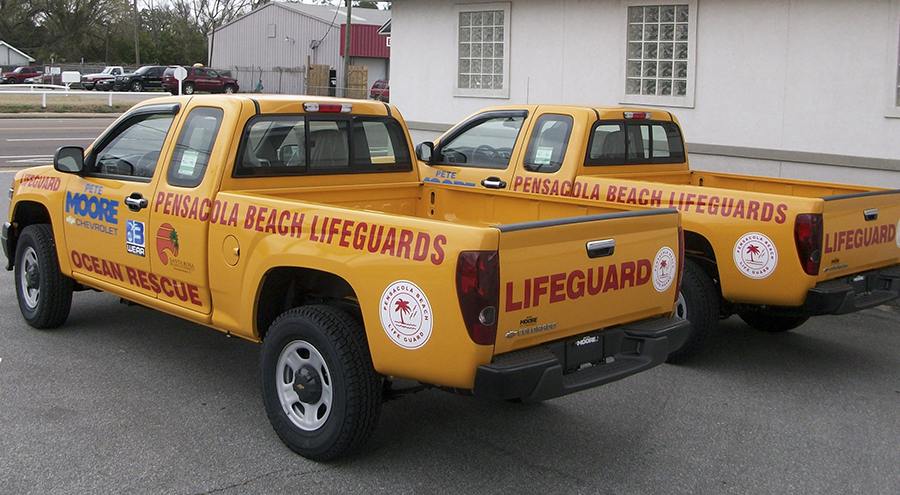 Lifeguard vehicle graphics by Pensacola Sign