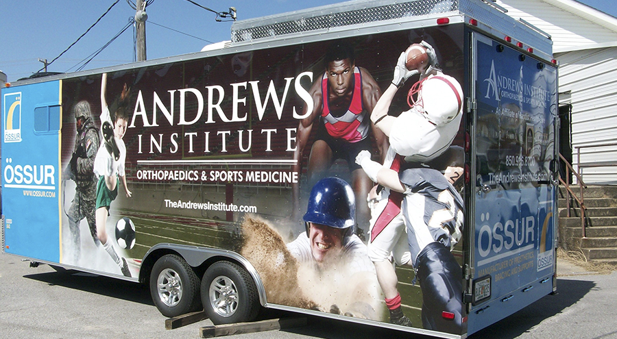 Pensacola Sign Vehicle Wraps and Sports Trailer for Andrews Institute