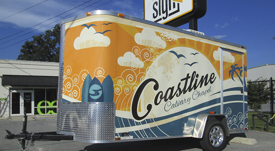 Custom Trailer Wrap by Pensacola Sign