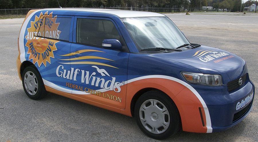 Gulf Winds Full Vinyl Vehicle Wrap by Pensacola Sign