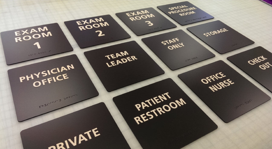 Custom ADA-compliant signs for hospital and medical facility by Pensacola Sign