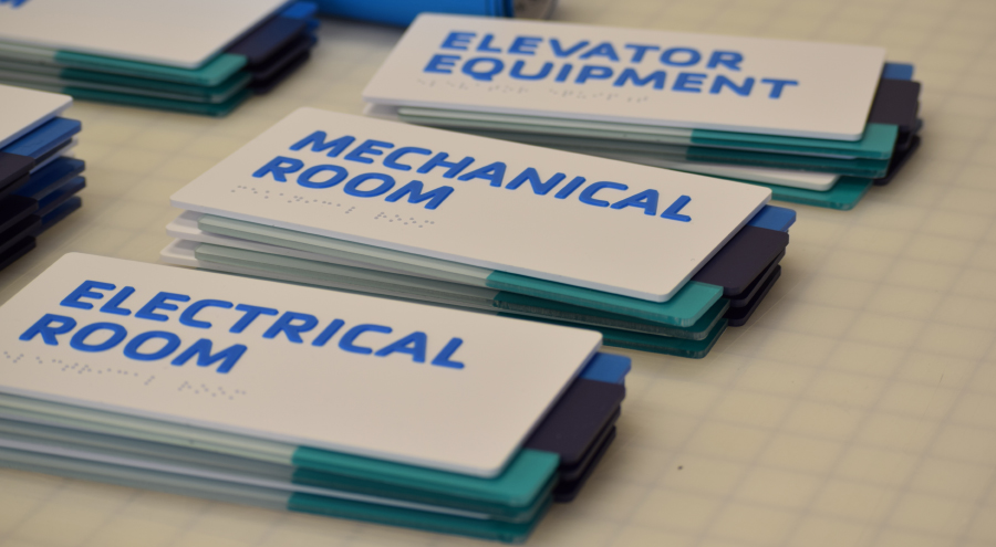 ADA signs for Elevator Equipment, Mechanical Room and Electrical Room by Pensacola Sign