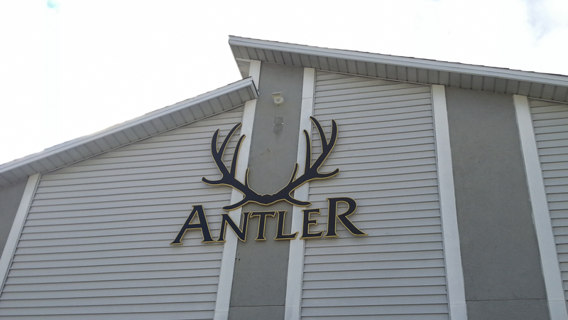 Antler Apartments exterior corporate identity signage by Pensacola Sign