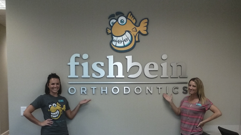 Fishbein Orthodontics interior corporate identity signage by Pensacola Sign