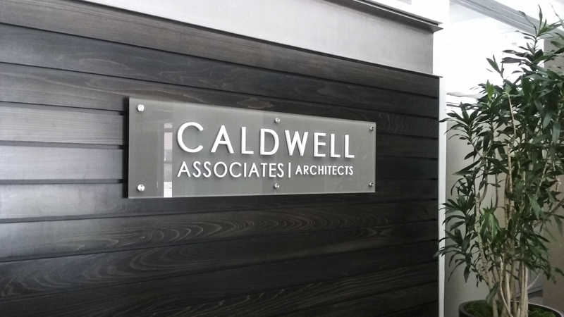 Caldwell Associates exterior corporate identity signage by Pensacola Sign