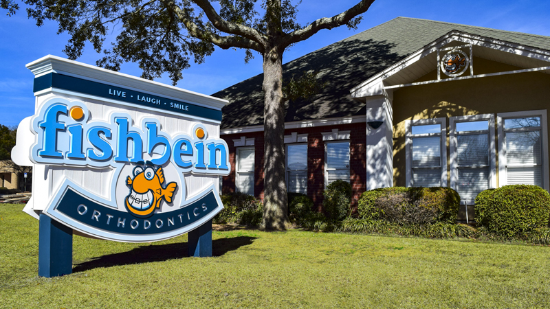 Fishbein Orthodontics exterior corporate identity signage by Pensacola Sign