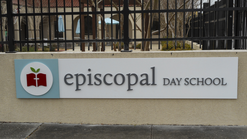 Episcopal Day School exterior corporate identity signage by Pensacola Sign