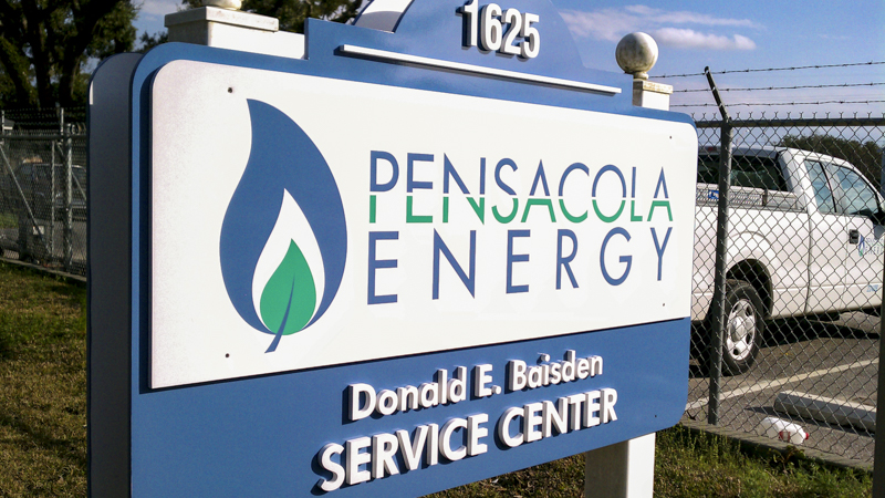 Pensacola Energy exterior corporate identity signage by Pensacola Sign