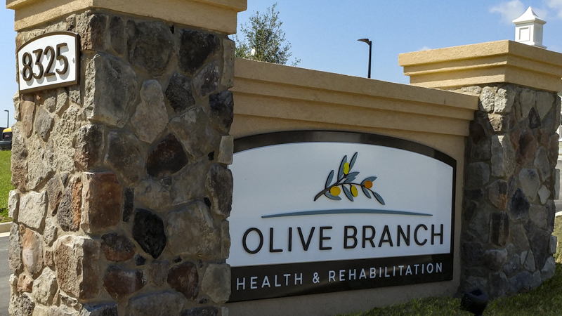 Olive Branch exterior corporate identity signage by Pensacola Sign