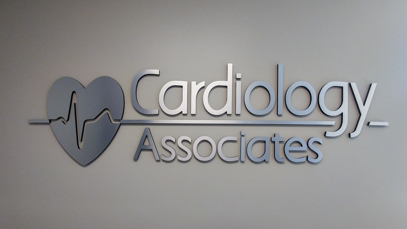 Cardiology Associates interior dimensional lettering signage by Pensacola Sign