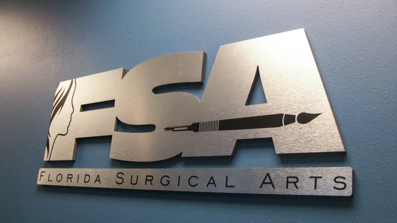 Florida Surgical Arts interior dimensional lettering signage by Pensacola Sign