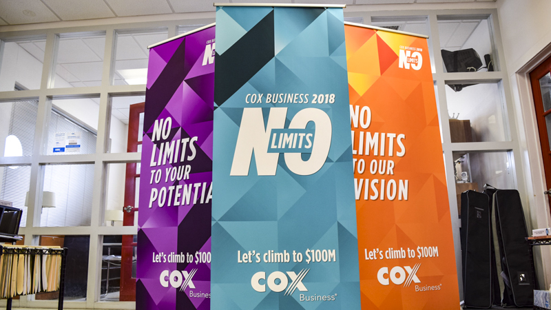 Tradeshow banners for Cox Business by Pensacola Sign