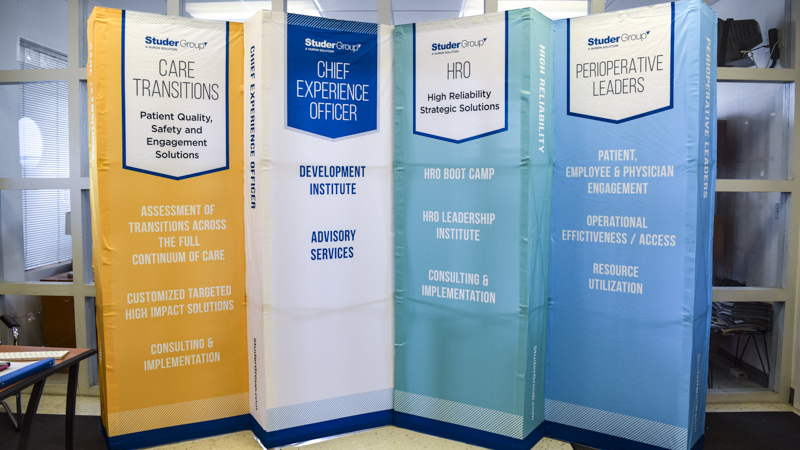 Pop-up Tradeshow Display for Studer Group by Pensacola Sign